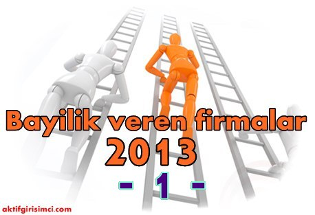 bayilik veren firmalar 2013
